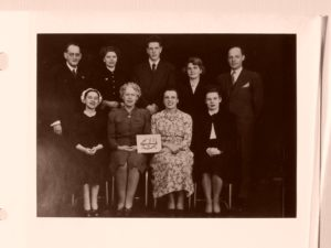 The First Local Spiritual Assembly of Ottawa 1949 (second from right, seated, is Winnifred Harvey).