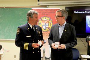 Ottawa Fire Services chief Gerry Pingitore and Mayor Watson.