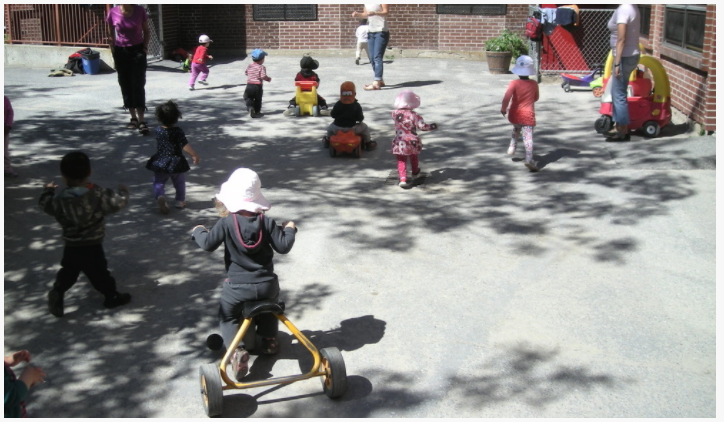 Children at Dalhousie Parents Day Care, an organization that partners with St. Anthony School to build closer community ties.