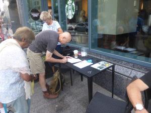 Signing Condolence Card